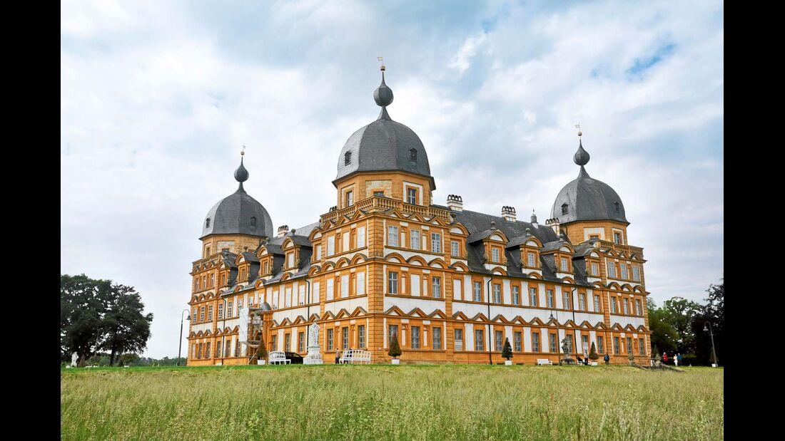 Schloss Seehof bei Bamberg, einst Residenz und Jagdsitz der Fürstbischöfe.