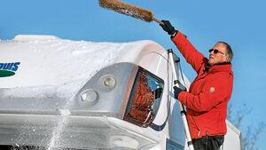 Schnee Wohnmobil