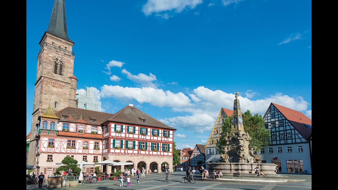 Schwabach Kirche Marktplatz