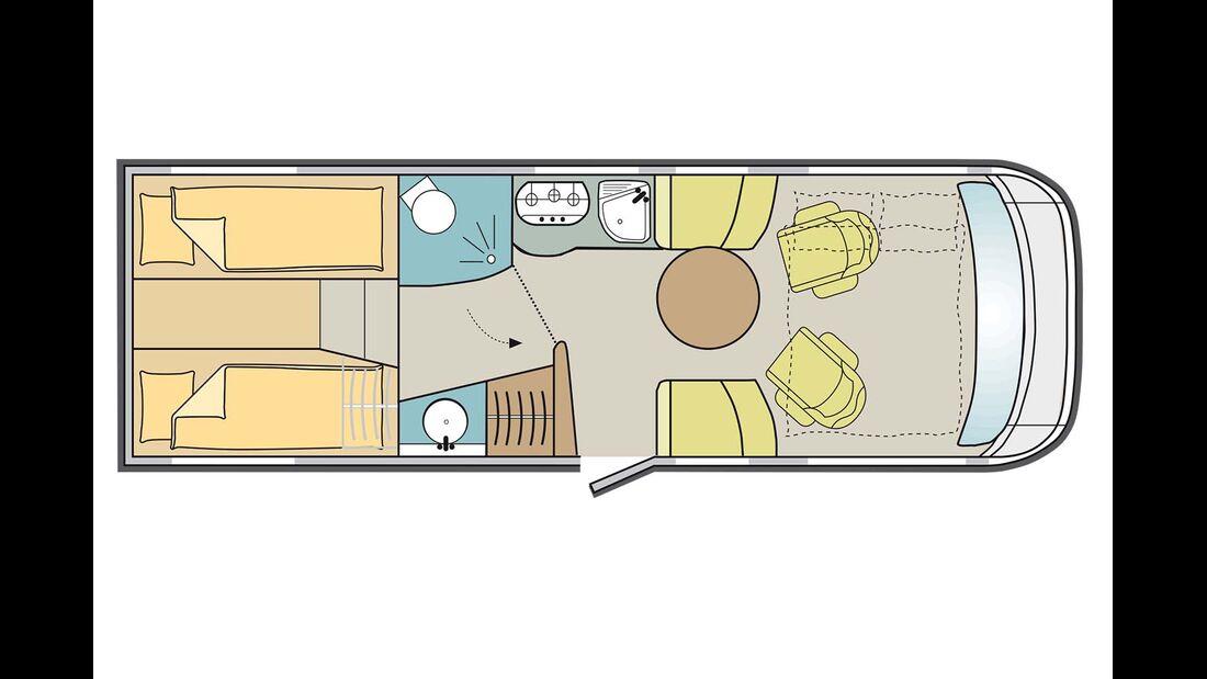 Sehr hochwertiger Aufbau, Doppelboden, hoher Kleiderschrank, 4,5 t Serie.