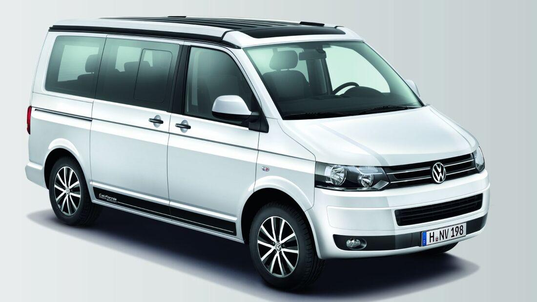 """Seine Premiere feiert der ab sofort bestellbare VW California """"Edition"""" auf dem Caravan-Salon in Düsseldorf (25.8.-2.9.2012)."""