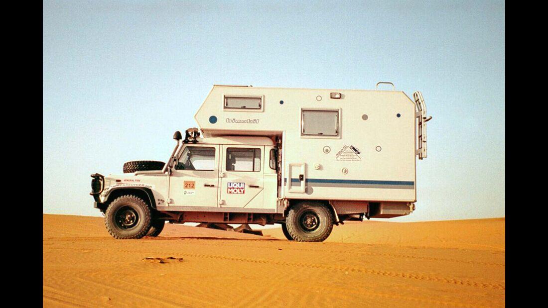 Seit 1985 werden auch Expeditionsfahrzeuge gebaut – die zum Teil bis heute unterwegs sind.