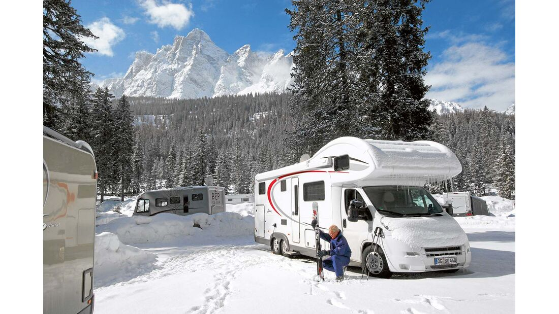 Selbst Winterreisen, bei denen geheizt wird, trüben Ökobilanz von Reisemobilen nicht