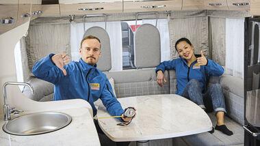 Sitzgruppen im Wohnmobil