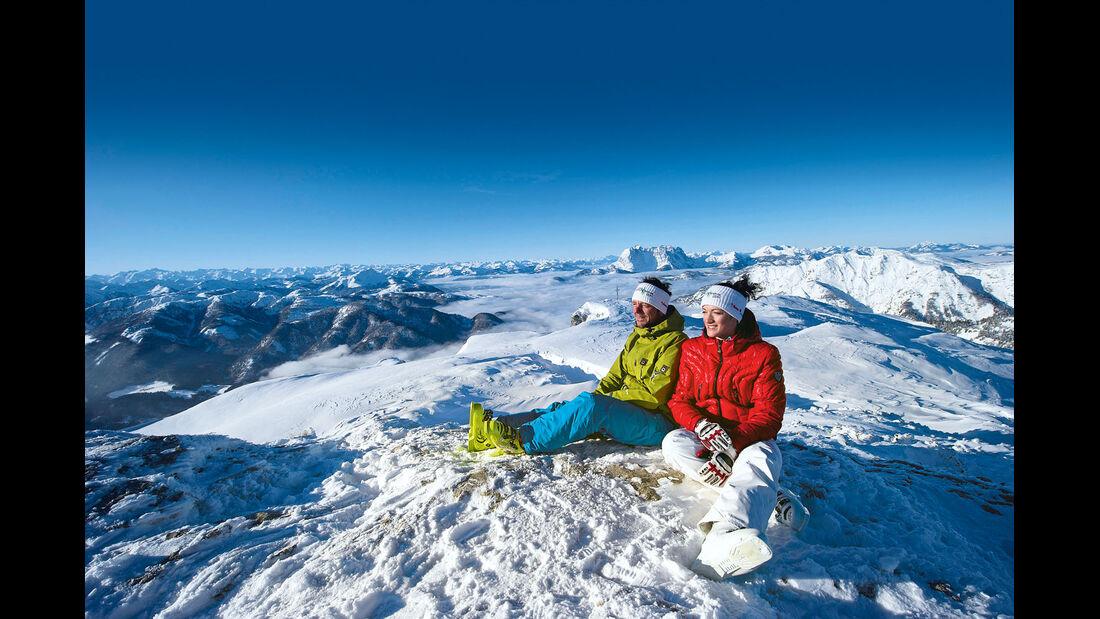 Skigebiet Steinplatte bei Waidring.