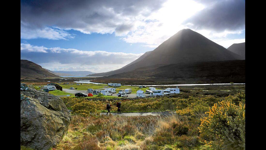 Sligachan Campsite auf der Insel Skye
