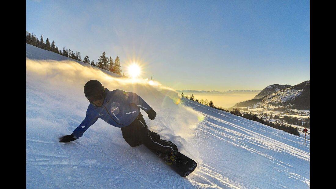 Snowboarder in den Allgäuer Alpen