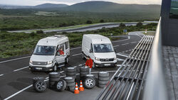 Somerreifentest, VW Crafter, MAN TGE-Kastenwagen