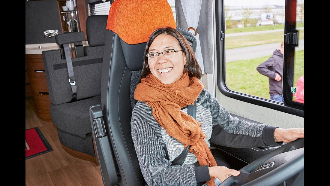 Sophia Pfisterer im Flair Cockpit