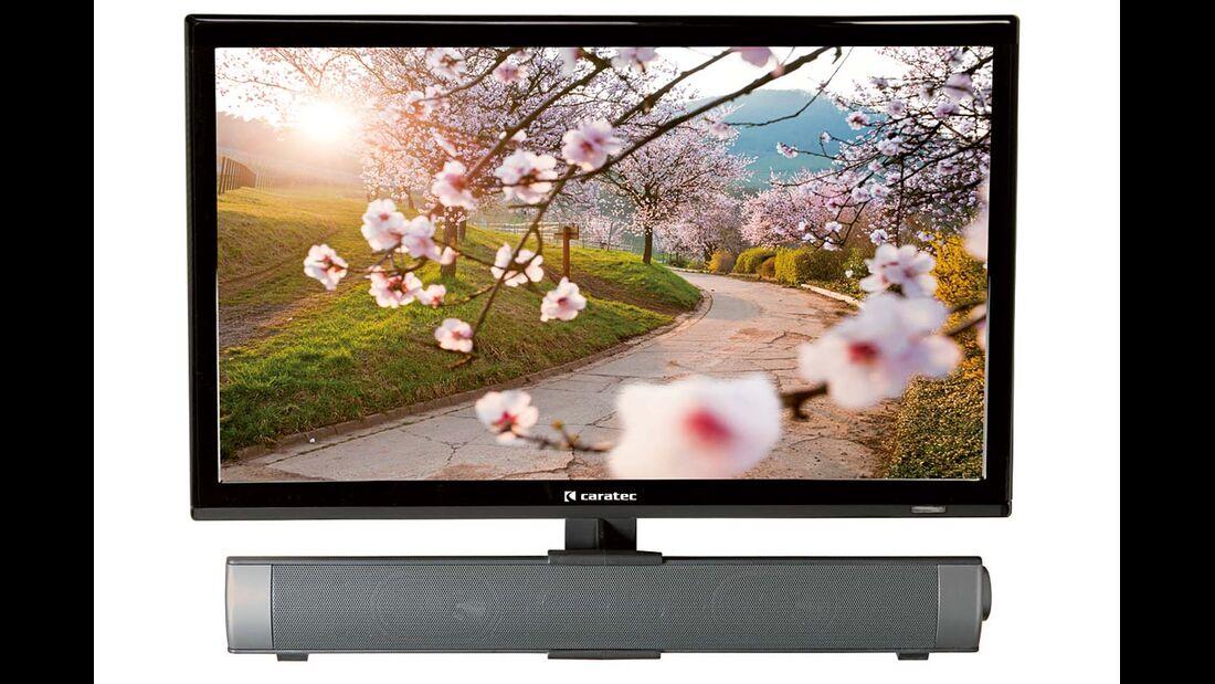 Soundbars verbessern den Klang des Fernsehers. Neben Caratec vertreiben auch Alphatronics und Megasat solche Lautsprecher.