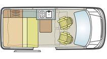 Spacecamper Classic Grundriss