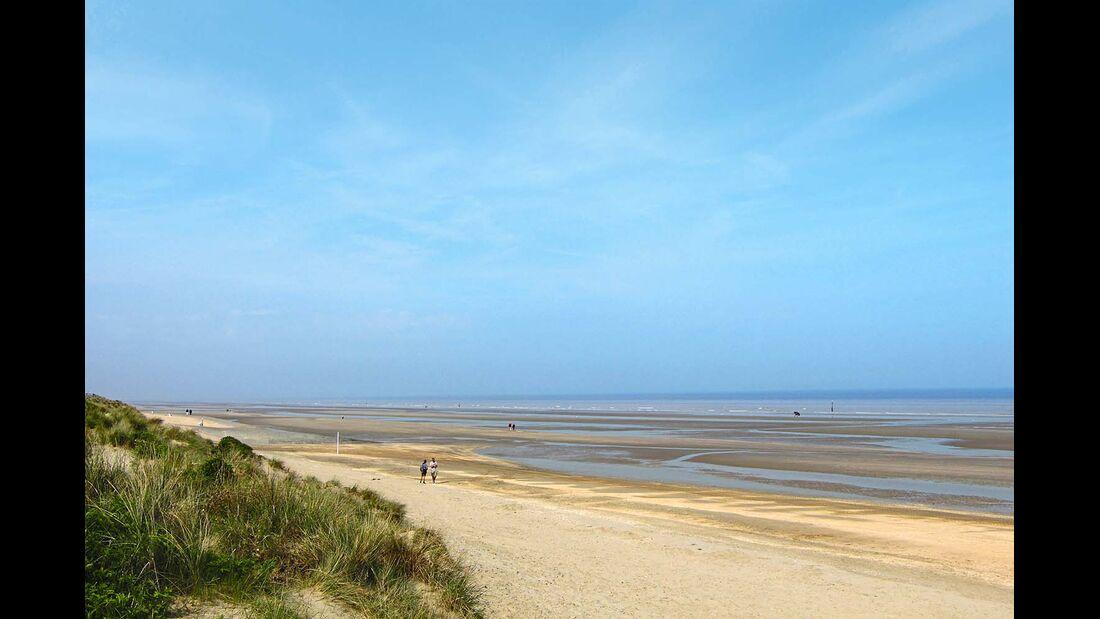 Speziell in der Nebensaison kann man an den Stränden der Atlantikküste ungestört flanieren.