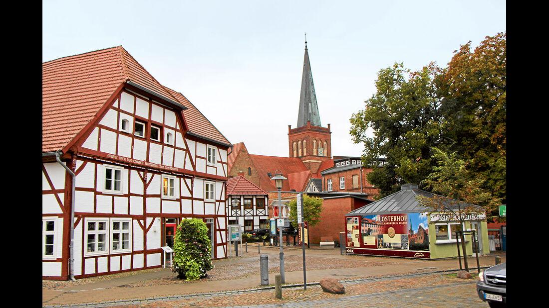 Stadt Bergen im Zentrum von Rügen