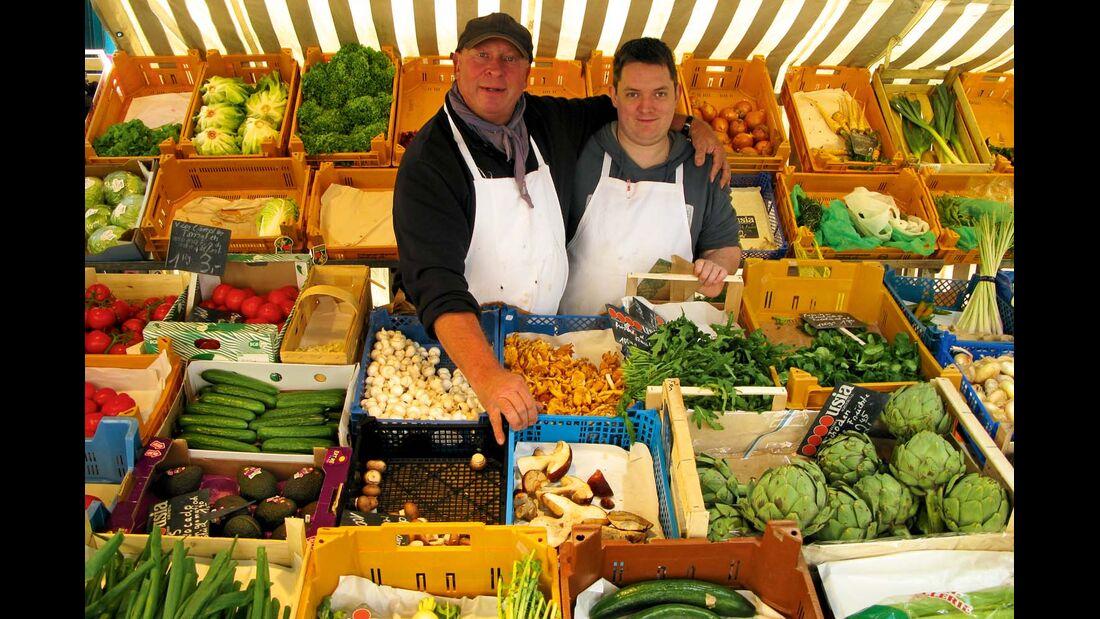 Stand auf dem bunten Markt in Eutin