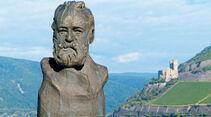 Statue von Victor Hugo in Bingen.