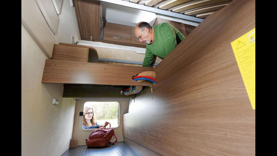 Stauraum unter den Betten beim Chausson
