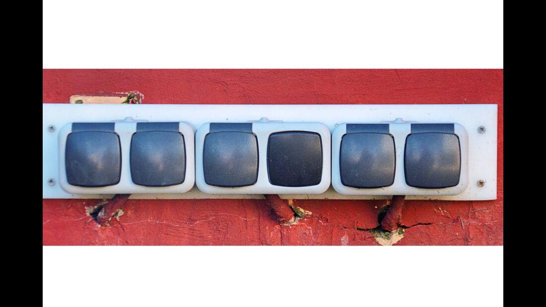 Steckdosen in der Wohnmobiloase Bremen