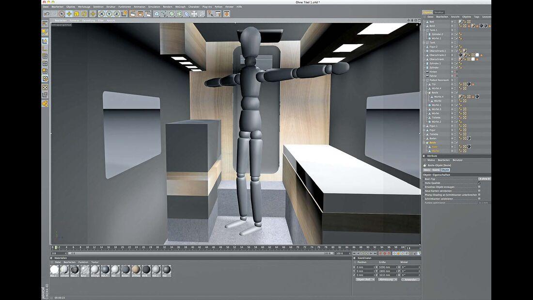 Stefan Armbrecht nutzte ein 3-D-Simulationsprogramm für die Planung