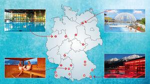 Stellplätze an Thermen in Deutschland