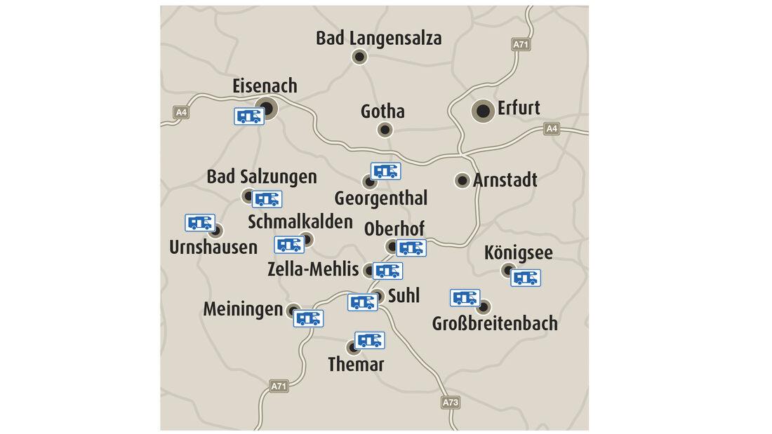 Stellplätze in Thüringen