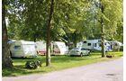 Stellplätze ohne Parzellierung sind typisch für osteuropäische Campingplätze.