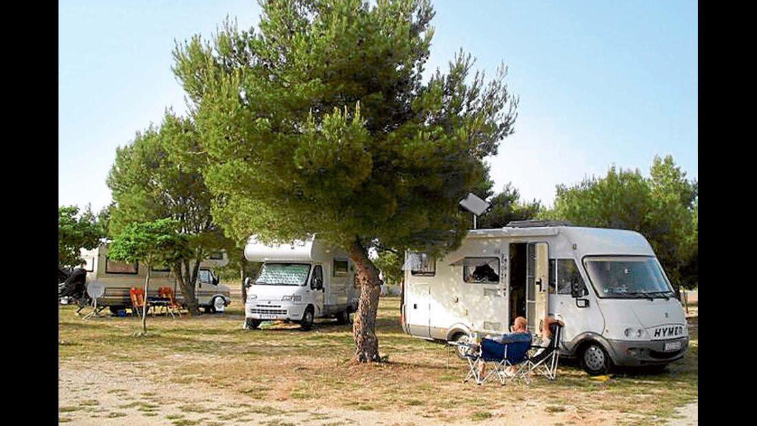 Stellplatz Camp Marina in Dalmatien