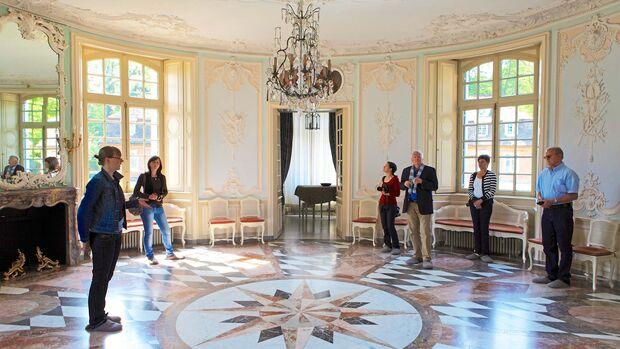 Stellplatz-Fokus Emsland Gesellschaftssaal Zentralgebäude auf Schloss Clemenswerth