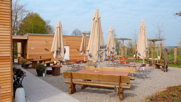 Stellplatz Heicamp Biergarten