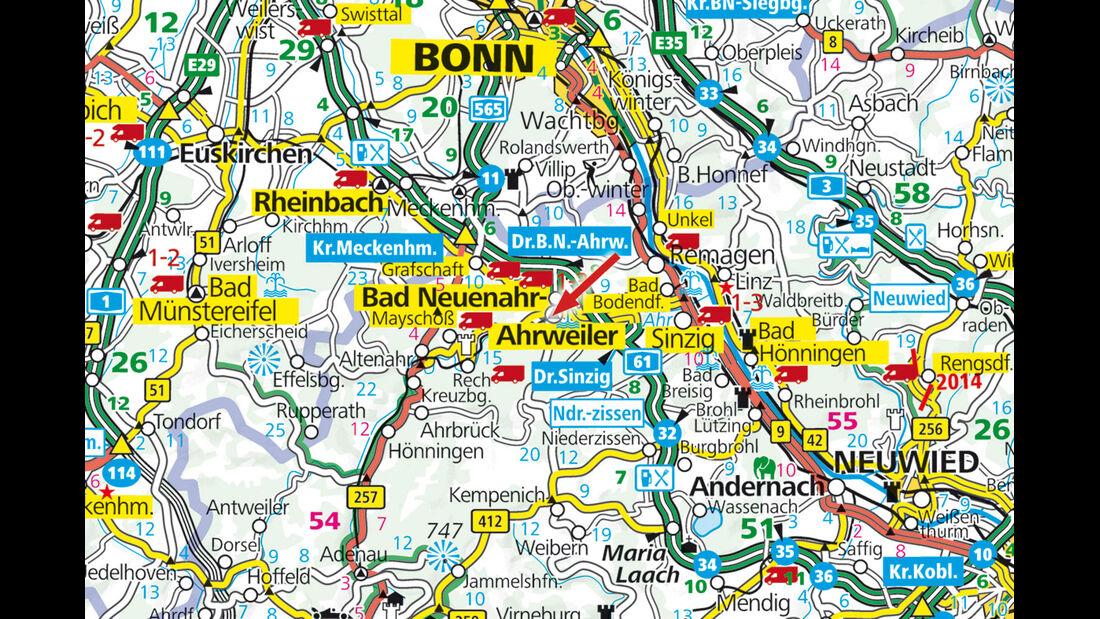 Stellplatz-Tipp:  Bad Neuenahr, Karte