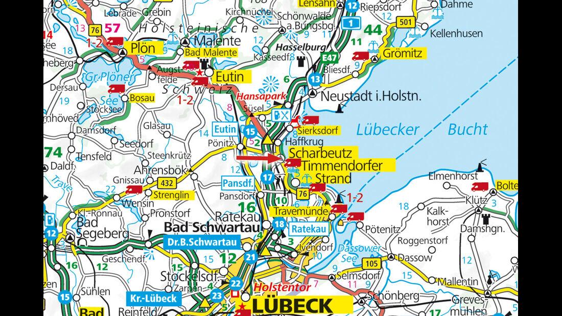 Stellplatz-Tipp:  Scharbeutz, Karte