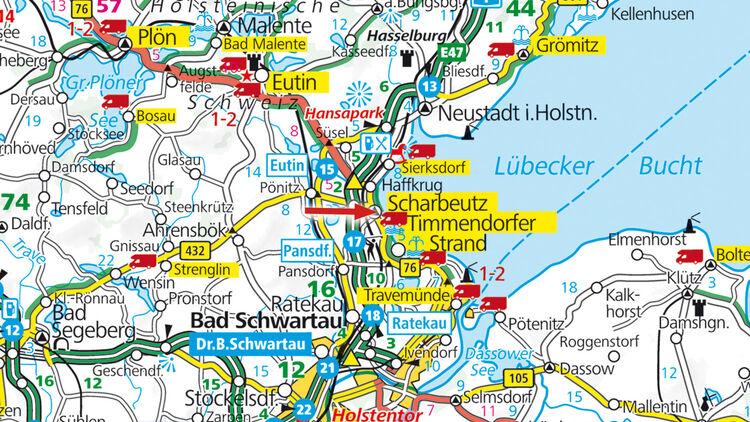 Stellplatz In Scharbeutz In Schleswig Holstein An Der Dunenmeile