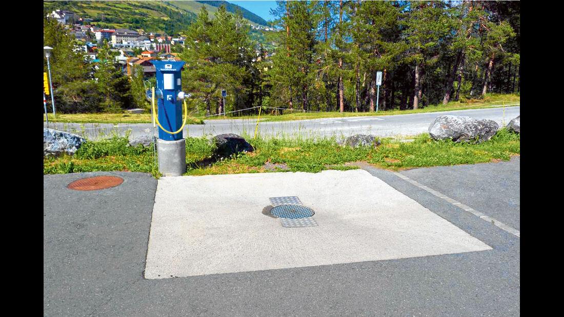 Stellplatz-Tipp:  Scuol, Ver- und Entsorgung