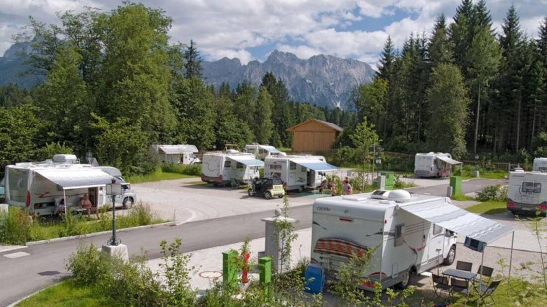 Stellplatz am Alpen-Caravanpark