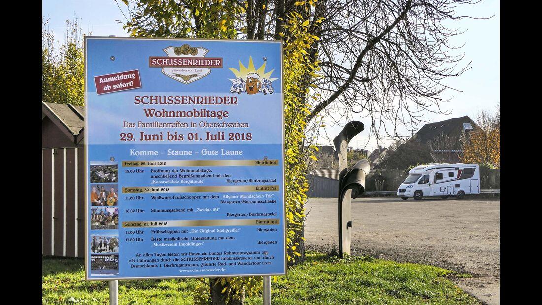 Stellplatz am Bierkrugmuseum Bad Schussenried