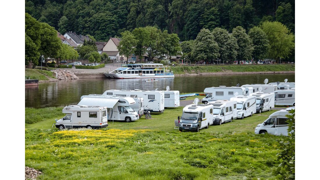Stellplatz am Campingplatz Hessen