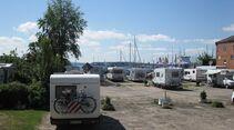 Stellplatz am Fischereihafen Lübeck Travemünde