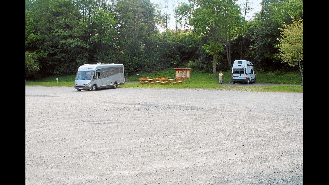 Stellplatz am Wanderparkplatz in Bayern