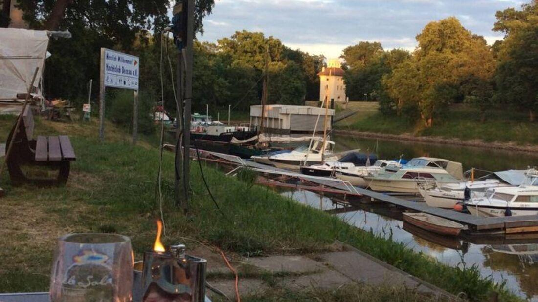 Stellplatz am Yachtclub Dessau