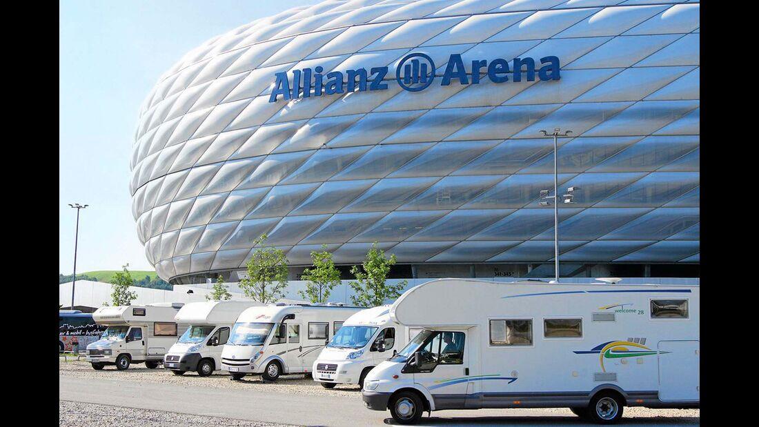 Stellplatz an der Allianz-Arena