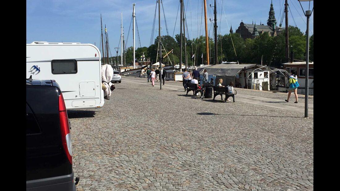 Stellplatz an der Strandstraße Stockholm