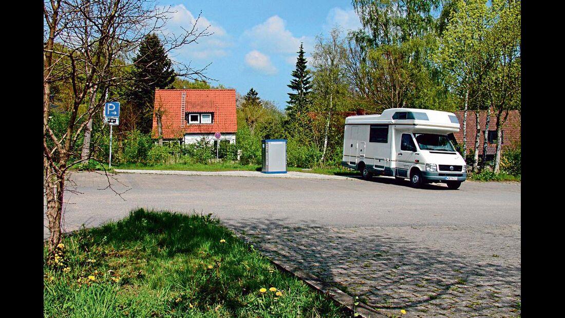 Stellplatz auf dem Parkplatz Krützen in Malente