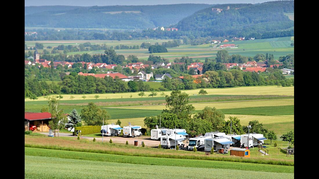 Stellplatz außerhalb von Hammelburg