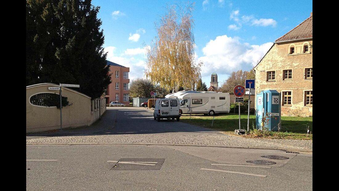Stellplatz bei Reisemobil & Caravans Hoke in Görlitz