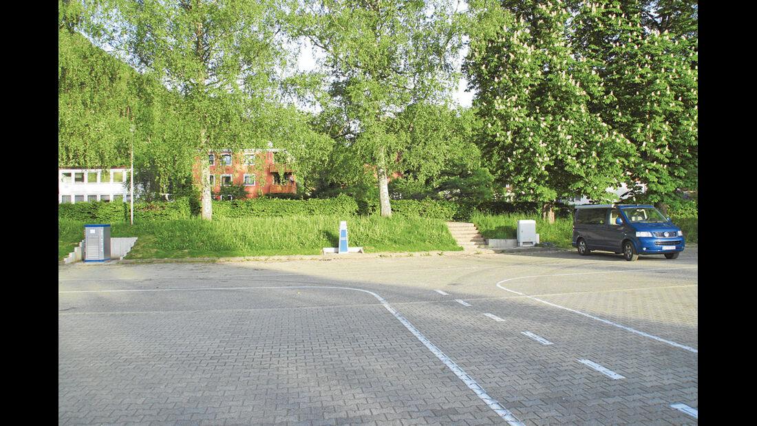 Stellplatz in Sulz am Neckarufer.