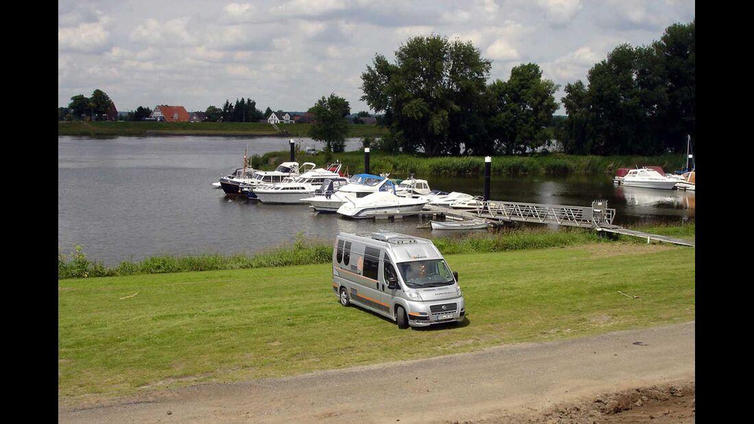 Stover Strand in Drage/Elbe