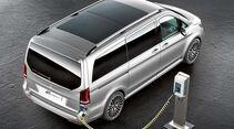Studie auf Basis einer Mercedes V-Klasse mit Plug-in-Hybrid. Die Gesamtleistung beträgt 333 PS.