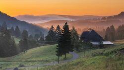 Sunset in Schluchsee-Blasiwald