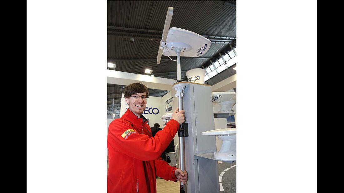 Telecos Antenne Teleplus X2 (168 Euro) lässt sich neigen und in der Höhe verstellen.