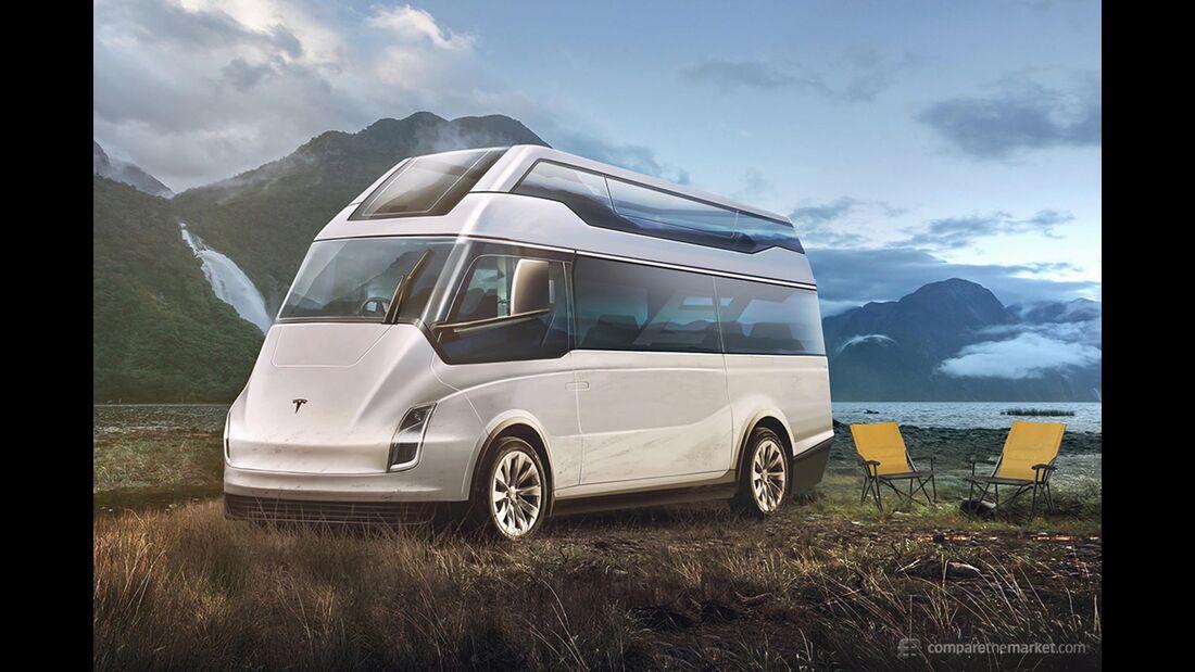 Tesla als Camper - Designstudie