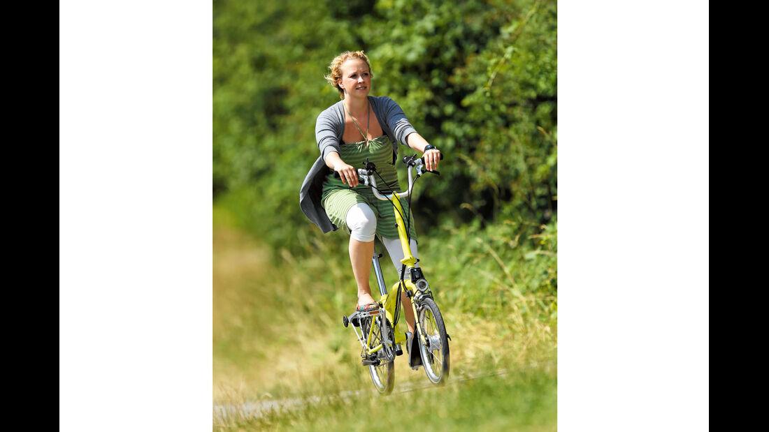 Test: Klappräder, Fahrradfahrt